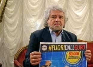 BEPPE GRILLO VOLEVA REFERENDUM PER USCIRE DALL EURO