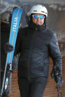 renzi sugli sci