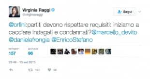 VIRGINIA RAGGI CHIEDEVA AL PD DI CACCIARE GLI INDAGATI