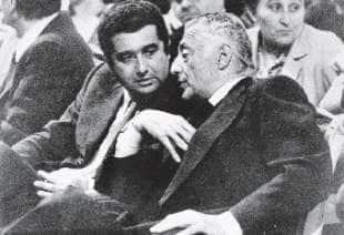 Gianni Agnelli con De Benedetti