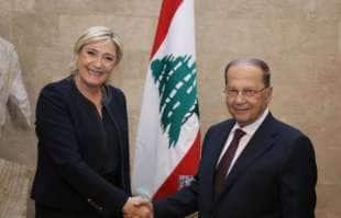 MARINE LE PEN CON IL PRESIDENTE LIBANESE AUN
