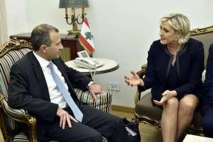 MARINE LE PEN DURANTE LA VISITA IN LIBANO