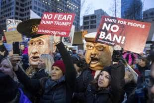 PROTESTE CONTRO IL TRUMP BAN A SEATTLE