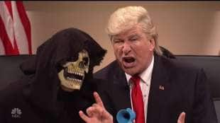 steve bannon e donald trump a saturday night live