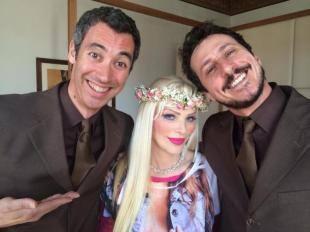 LUCA E PAOLO PREPARANO LA SECONDA PUNTATA DI GIASS CON CICCIOLINA
