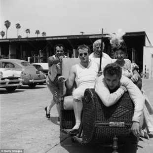 james dean e marlon brando nel 1954