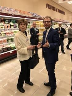 GIULIANA CAPROTTI E LUCA LOTTI . - VERNISSAGE ESSELUNGA