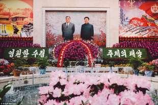 mosaico dei leader a pyongyang