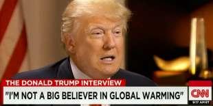 donald trump riscaldamento globale