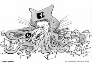 mark zuckerberg vignetta suddeutsche zeitung