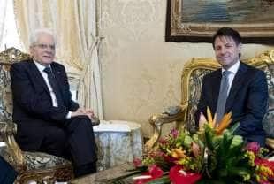 Mattarella con Giuseppe Conte