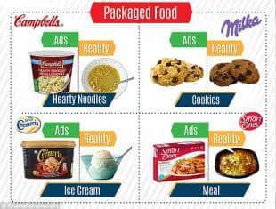 molti ingredienti non sono inclusi nel prodotto reale