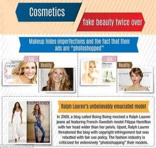 ritocchi al photoshp per aziende cosmetiche