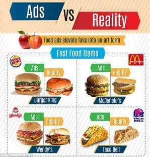 spot a confronto coi prodotti reali