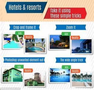 spot ingannevoli degli alberghi