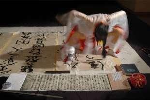 calligrafia tradizionale cinese con la vagina