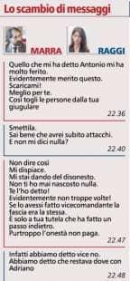 LO SCAMBIO DI MESSAGGI TRA VIRGINIA RAGGI E RAFFAELE MARRA 1 DI 2