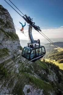 verticale sul moleson in svizzera