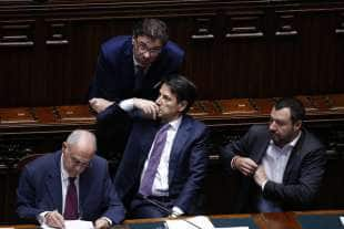 PAOLO SAVONA GIANCARLO GIORGETTI GIUSEPPE CONTE MATTEO SALVINI