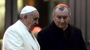 papa francesco bergoglio e il cardinale parolin