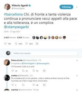 ATTENTATO A BARCELLONA - IL TWEET DI VITTORIO SGARBI
