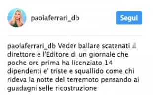 IL POST DI PAOLA FERRARI CONTRO DANIELA SANTANCHE PER I LICENZIAMENTI A NOVELLA
