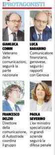 BENETTON E IL CROLLO DEL PONTE - LO STAFF DI DIFESA
