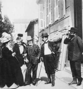 eleonora duse with matilde serao, francesco paolo and tristan bernard foto giuseppe primoli