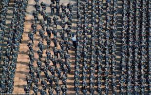studenti cinesi in addestramento militare 5