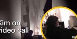 kim kardashian dopo la rapina fa una video chiamata