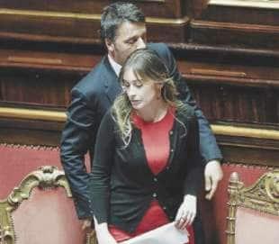 MATTEO RENZI E MARIA ELENA BOSCHI VICINI VICINI