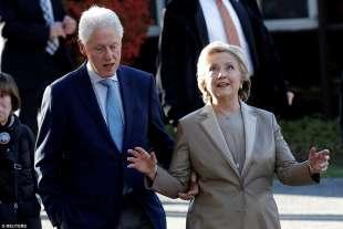 bill e hillary clinton al seggio