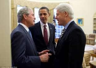 obama con bush e clinton