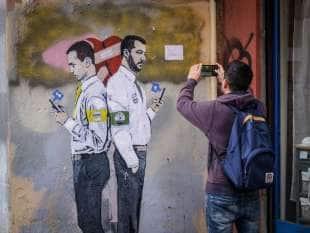 salvini e di maio murales by tvboy 2