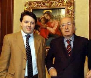 Matteo Renzi e Ciriaco De Mita