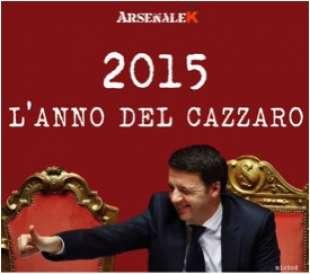 renzi 2015 anno del cazzaro
