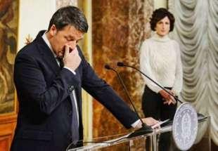 AGNESE LANDINI E MATTEO RENZI DURANTE LE DIMISSIONI