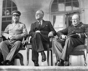 stalin churchill e roosevelt a teheran nel 1943