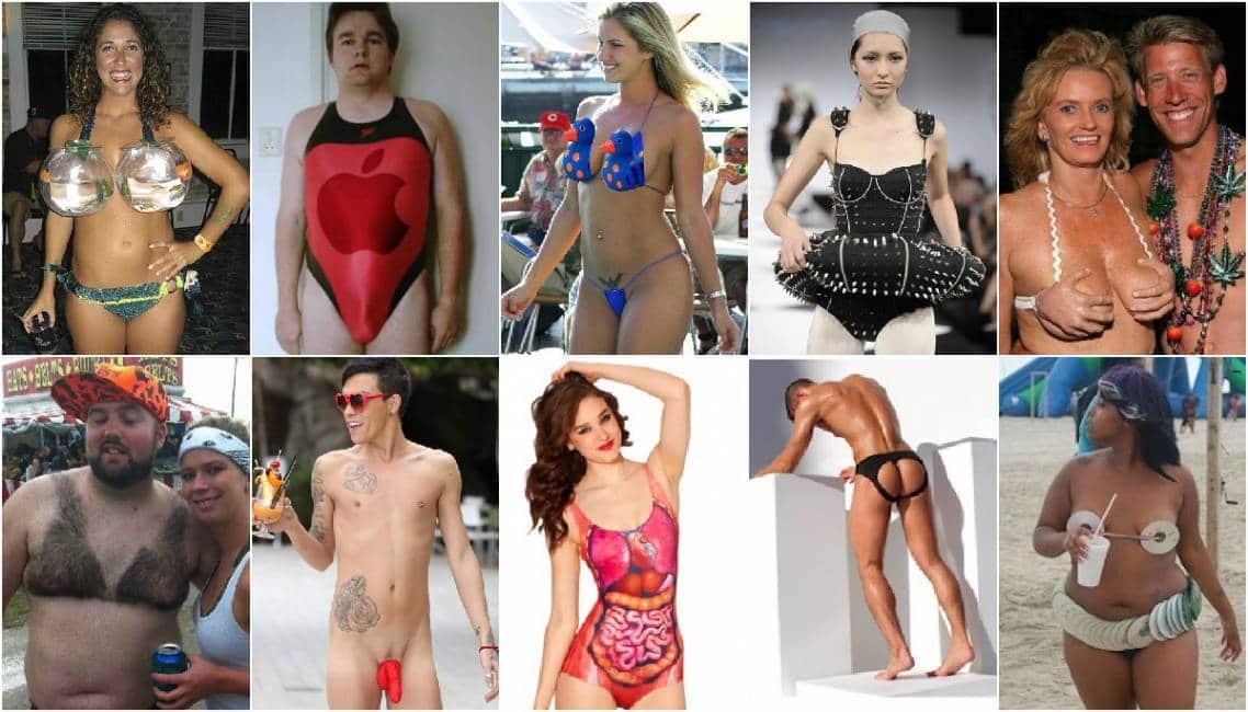 i peggiori costumi da bagno della storia, dal bikini di peli al ...
