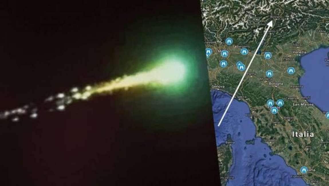 Meteorite nell alto dei cieli nel centro e nord italia for Meteorite milano