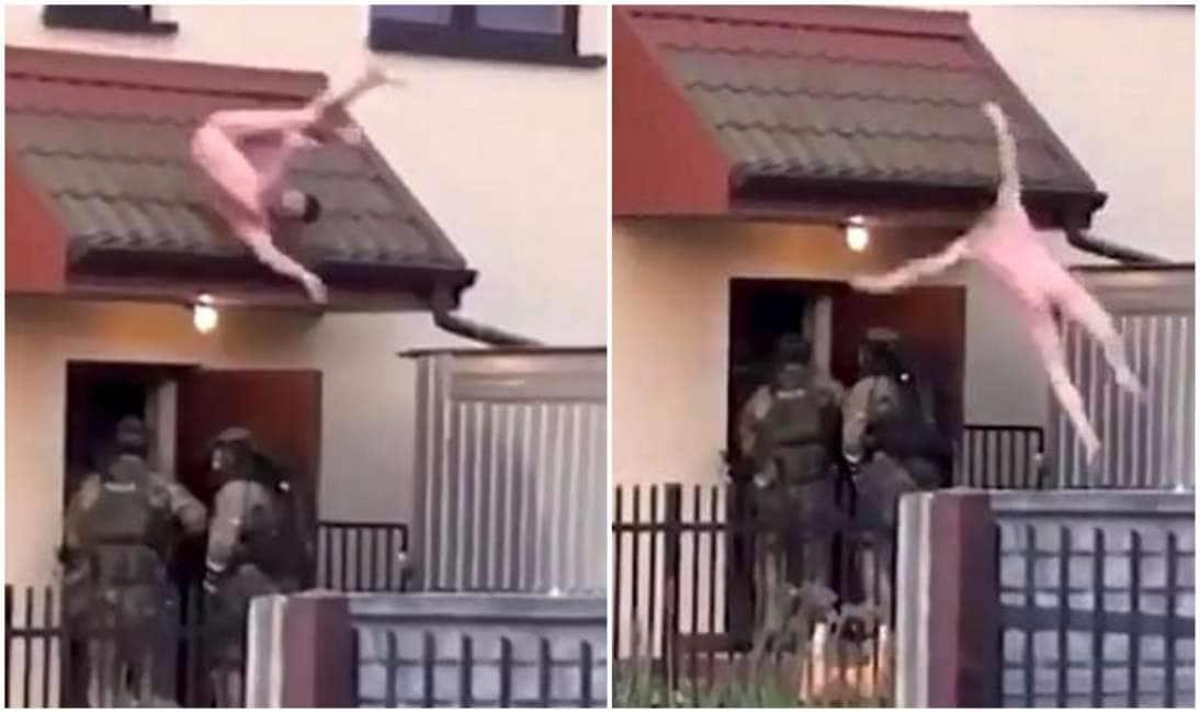 Lo spacciatore che si lancia nudo dalla finestra mentre a casa entrano le squadre speciali - Finestra che si apre ...