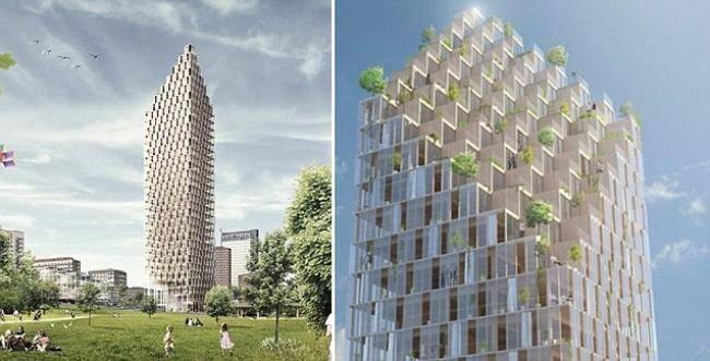 Legno presentato a stoccolma il grattacielo di legno pi for Grattacielo piu alto del mondo