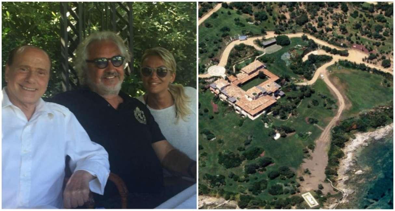Interni Di Villa Certosa : Statue e interni villa certosa ai raggi su google earth