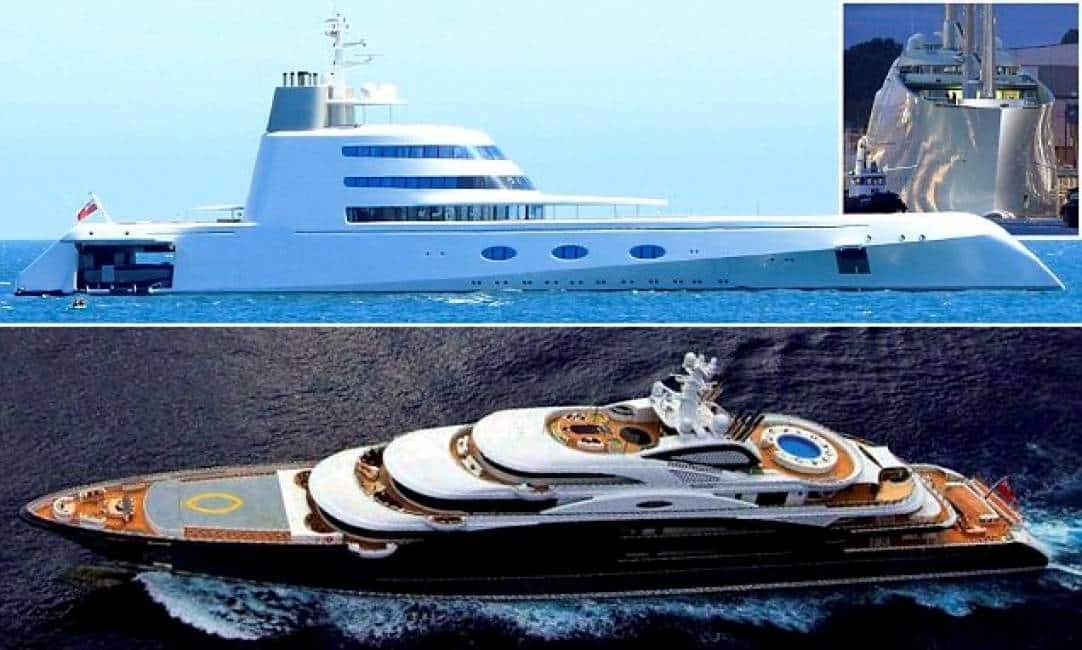 Mostri marini andrey melnichenko sta per varare a il for Classifica yacht piu grandi del mondo