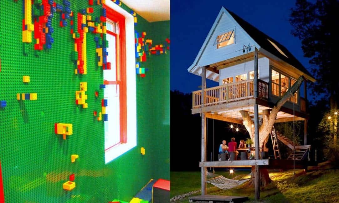 Dallo scivolo in camera da letto alle pareti di lego for Lusso per la casa dei sogni