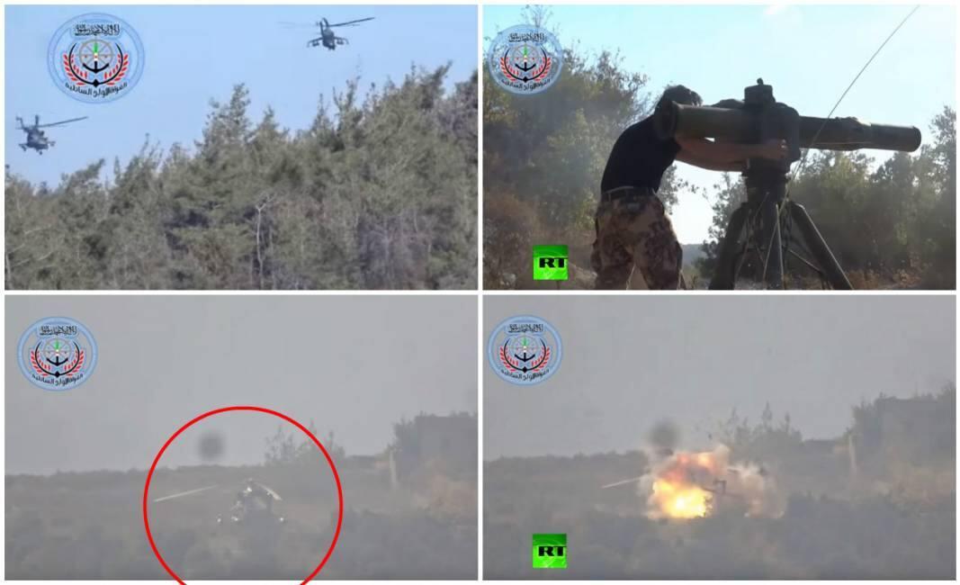 Elicottero Russo : Il video di un elicottero russo colpito e fatto esplodere