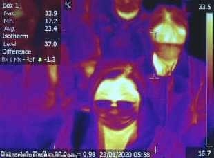 scanning dei passeggeri in arrivo da wuhan a fiumicino