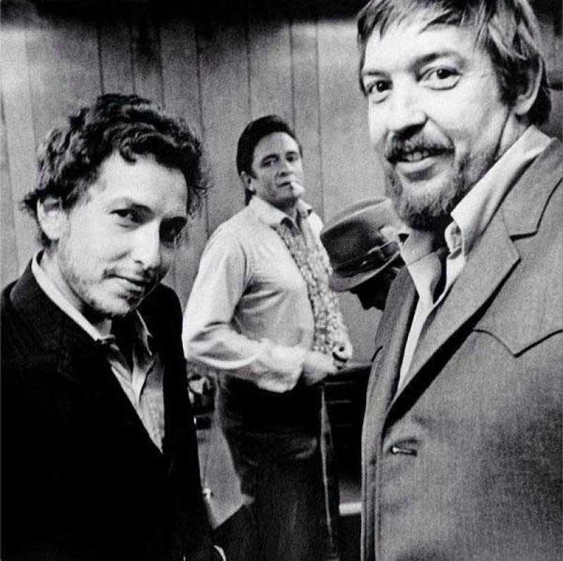 bob dylan, johnny cash e il produttore bob johnston