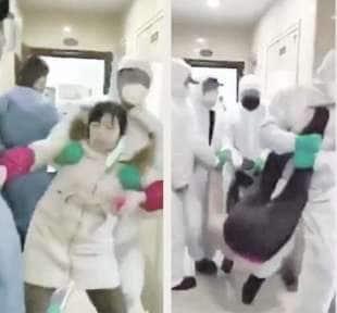 wuhan sospetti malati di coronavirus portati via a forza dalle loro case 5