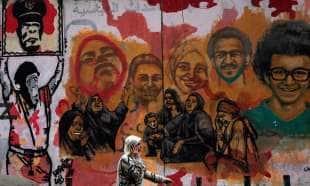 murale egiziano sulla primavera araba
